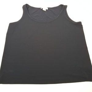 Micheal Kors Womens 2X Black Tank Top